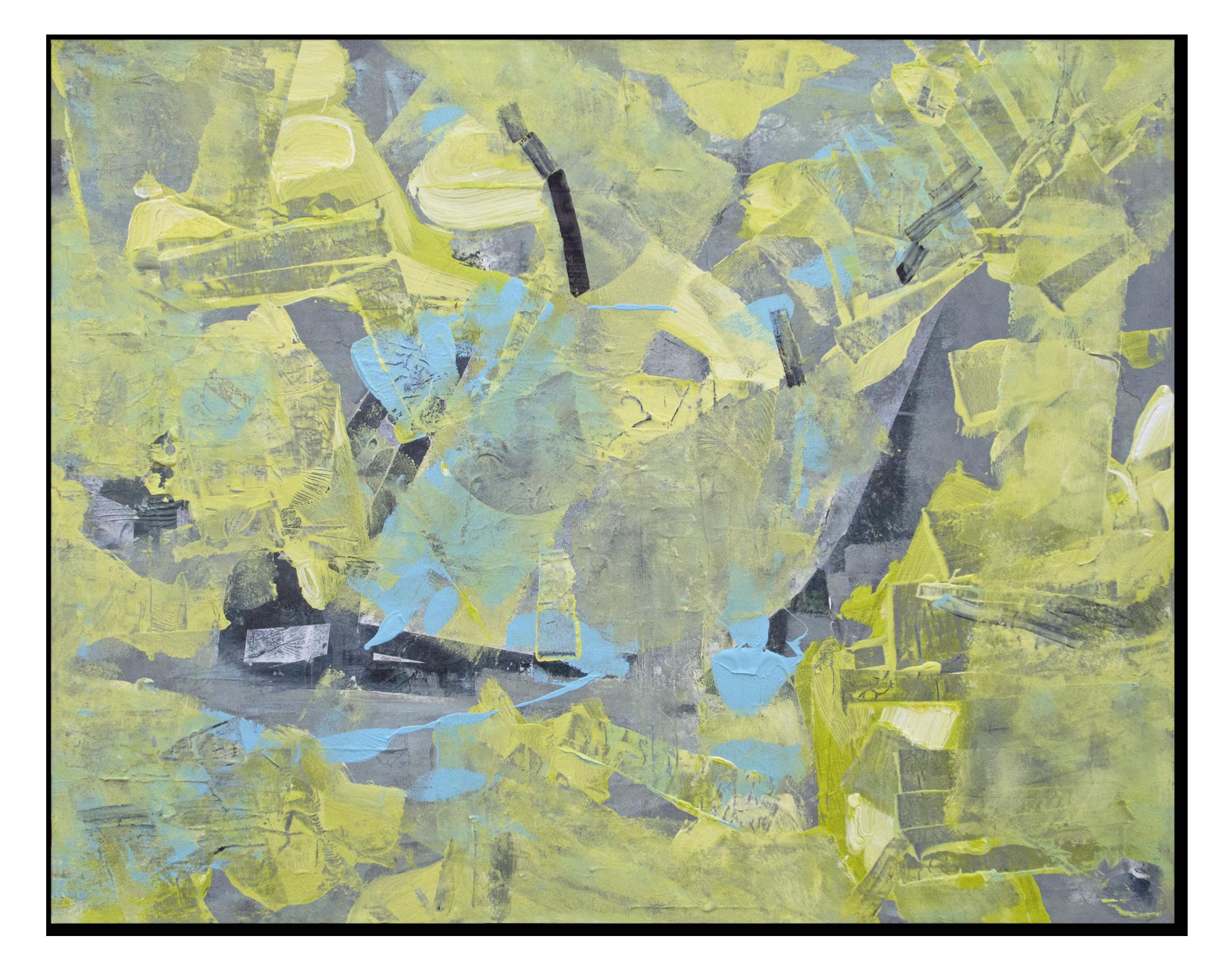 Feuilles volantes [100 x 80 cm] Acrylic on linen © Prosper Jerominus, 2015