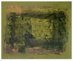 Jaune allant vert (Acrylic on wood)