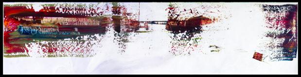 Vol du rose au vert 2 [50x 200cm]