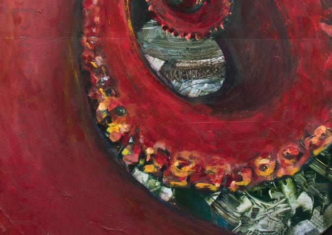 Vol transparant ou The Famous Octopus (detail) [∅ 100 cm] © Prosper Jerominus, 2014