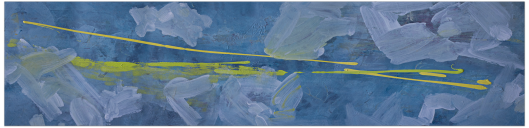 Some blues and yellows [200 x 100cm]