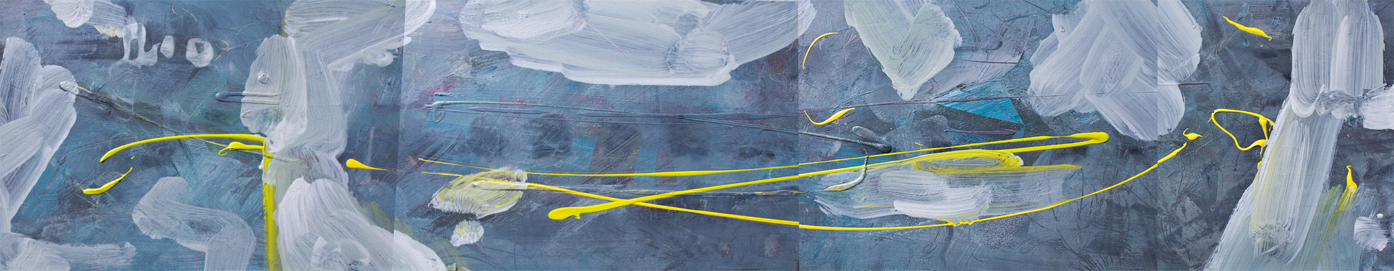 Four segments of blues © Prosper Jerominus, 2015